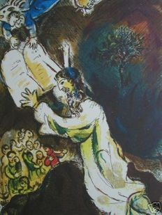 Marc Chagall (after) - Exodus, Aaron et le chandelier