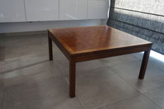 Manufacturer unknown - square coffee table with block motif top