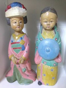 Lot of 2 statues - China, late 20th Century