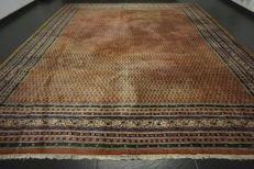 Magnificent hand-knotted oriental palace carpet Sarouk Mir 365X300 cm made in India excellent highland wool