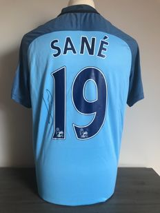 Leroy Sané signed Manchester City home shirt 16/17 with COA