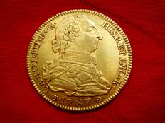 Spain - Carlos III (1759 - 1788), doubloon of 4 gold escudos. Madrid, 1787. DV.