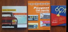 Lot of 3 Peugeot books