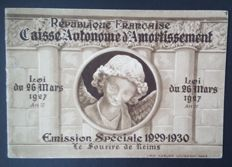 "France 1930 – complete ""Sourire du Reims"" booklet – Yvert No. 256-C 1"