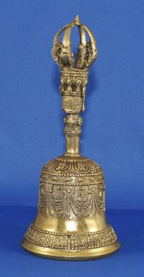 Large bronze bell - decorated