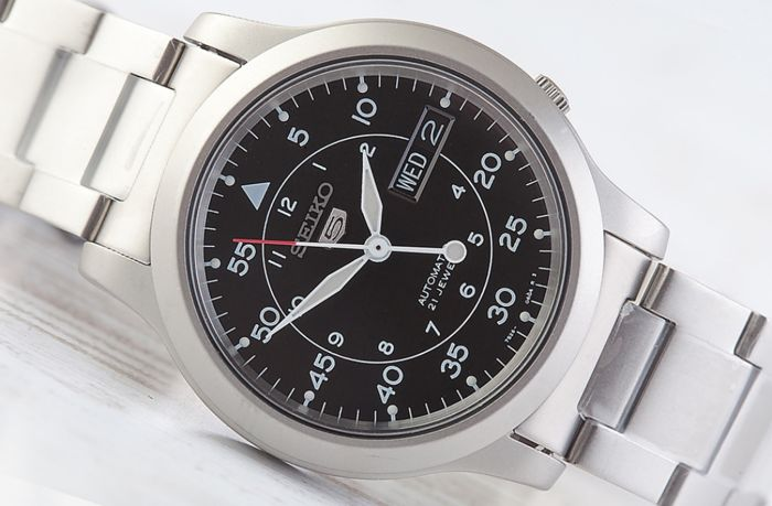 seiko 5 military automatic men s wristwatch in new condition catawiki