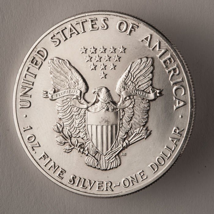 Usa United States One Dollar 1989 1 Oz Fine Silver