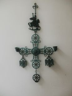Greek orthodox cross joris with the dragon