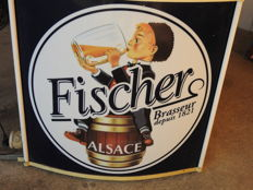 "Neon advertising sign  "" Bière Fischer - Alsace """