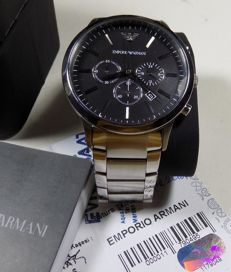 Emporio Armani AR-2460 - XL Size - Black - 2016 - Men's Chronograph