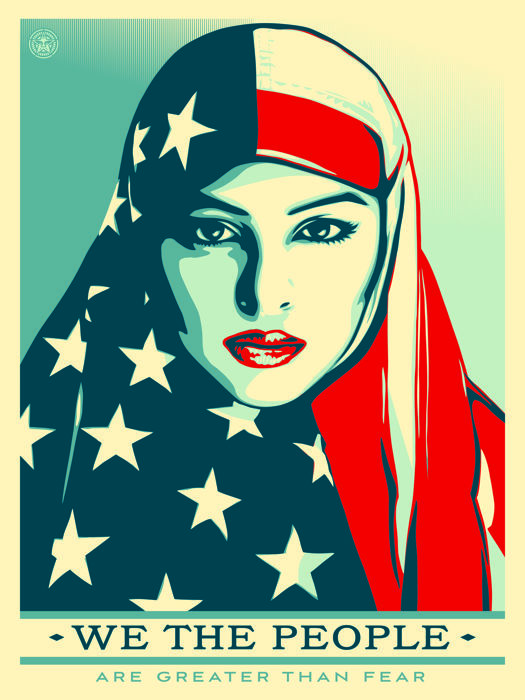 Shepard Fairey (OBEY) - We The People Are Greater Than Fear