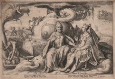 Hendrick Goltzius (1558-1617) - Juno and Jupiter disputing physical love - First state - 1590