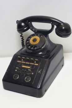 Antique office desk telephone industrial, Germany, ca.1940