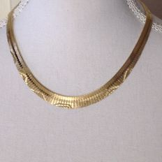 14 kt Decorated necklace 46 cm