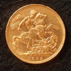 "Great Britain - Sovereign 1893 ""Victoria with veil"" - gold"