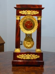 Empire Portal Mantel Clock - Mahogany - 1800