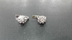 Earrings in 750 white gold with diamonds
