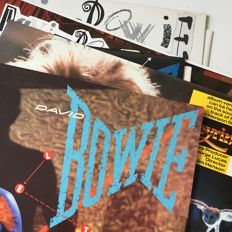 David Bowie, lot of 5 1980s archive copy / condition records
