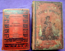 Lot of 2 cooking books of the 19th century - 1888/1893