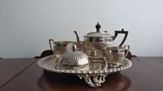 Lee & wigful 1872/1899 tea set service & tray silver plated made in sheffield england.