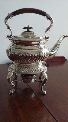 Bradley&Blake 1881/1886 spirit kuttle samovar silver plated made in sheffield england.