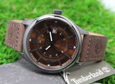 Timberland Men's - Stainless Steel - Brown Leather Strap Watch - New