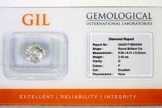 Diamond of 2.43 ct – . F, I2 – Excellent Cut – * NO RESERVE PRICE *