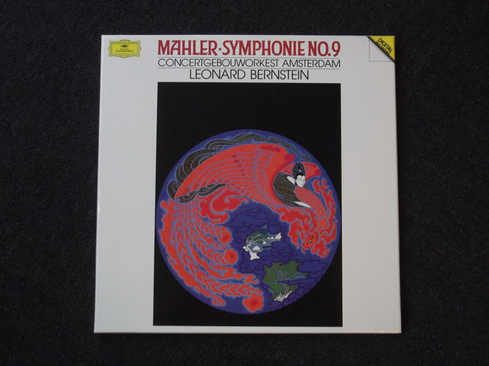 Mahler - Symphony No. 9 - Concertgebouworkest conducted by Leonard Bernstein - DGG Digital - 2 LP's in Box - Rare and Collectible