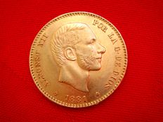 Spain - Alfonso XII - 25 pesetas gold - 1881 - Madrid MS-M
