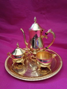 Coffee set, Golden alpaca
