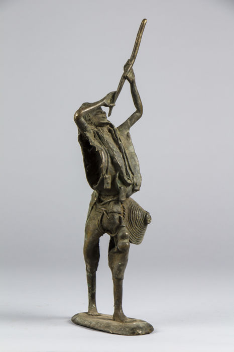 Flute player - MOSSI - Contemporary bronze - Burkina Faso