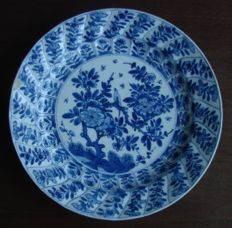 Blue-white plate made of Chinese porcelain.
