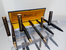 Lot of Waterman Pens- 2 fountain pens/ 2 ballpoint pens/ 1 felt pen
