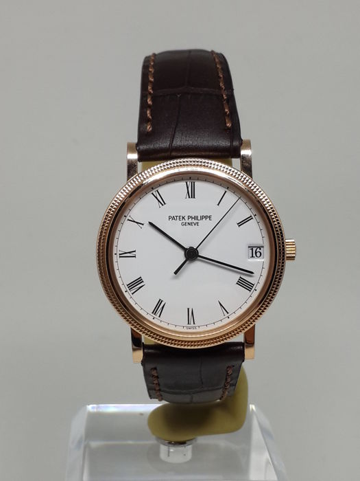 Patek Philippe Calatrava Hobnail Bezel 18k Rose Gold Automatic 3802 - Mens Watch - 2010