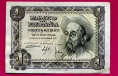 Spain - 1 Peseta 1951 - Series T - Last issue - Very rare and sought after