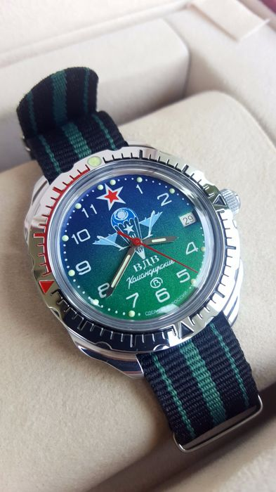 Original  Russian Soviet Military Aviation - Air Force Paratroopers Watch. 2nd half 20th century.