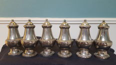 Three pairs of Ornate Silver Plated Salt & Pepper England