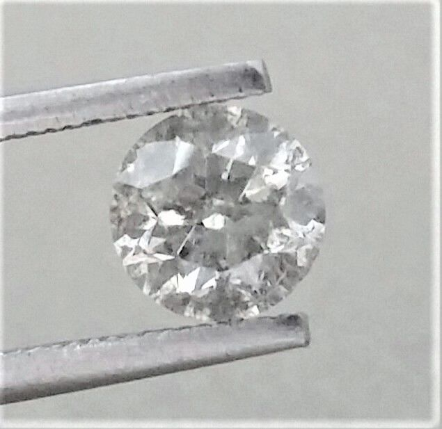 Round Brilliant Cut  - 1.19 carat  - G color  - I1 clarity  - Natural Diamond   - With AIG Certificate + Laser Inscription On Girdle