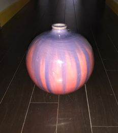Elchinger et Cie - Art Deco vase ball, varnished ceramic