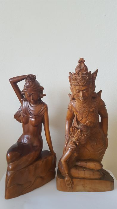 Two woodcarvings from Bali, Indonesia - 2nd half 20th century