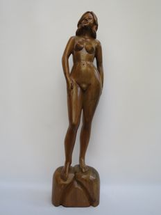 Sculpture; Unknown artist - young, naked woman - 2nd half 20th century
