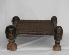 Antique stool - Swat Valley, Pakistan - early 20th century