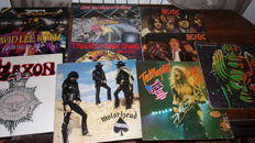 lot of 11 LP of various artists  heavy metal and hard rock