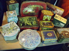 Twelve vintage storage tins - 1st half 20th century