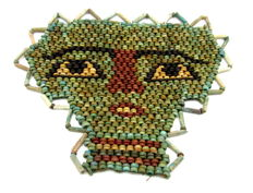 Egyptian Beaded Mummy Face Mask - 107 x 139 mm