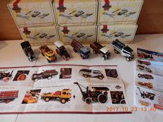 Matchbox - Scale 1/43 - Lot with 6 models: YAS- 07 to YAS - 12 - Steam Powered Vehicle Collection part 2
