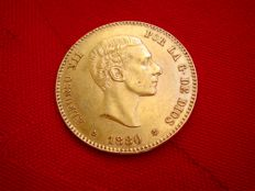 Spain - Alfonso XII - 25 pesetas gold - 1880 - Madrid, MS-M.