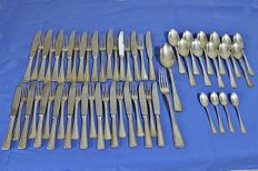 Cutlery set in Extra Nickel Silver - 57 pieces early 20th century - Italy