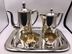 Silver plated 5 pieces Art Deco coffee set -Germany ca.1920