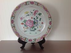 Large famille rose dish - China - early 19th century